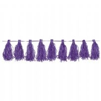 Purple Tassel Garland